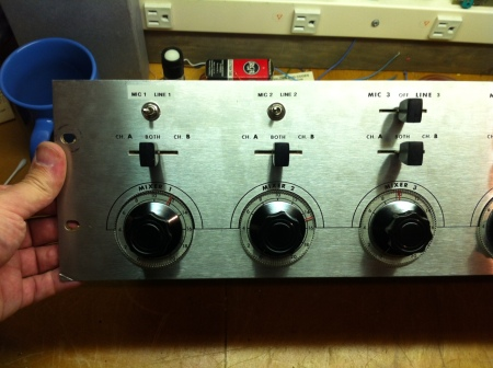 Ampex MX-35 Line Inputs