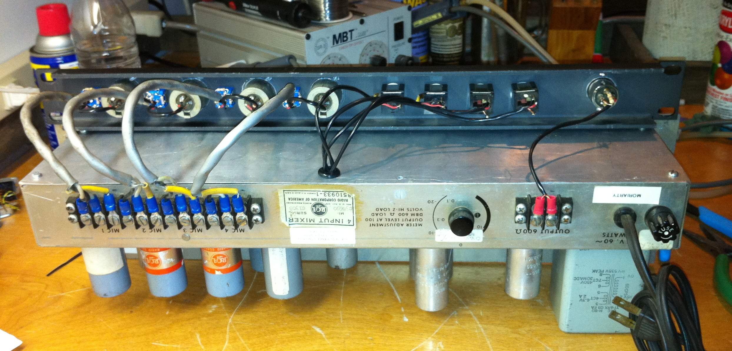 Preamp Analog Audio Repair Figure 1 Balance Input Pre Microphone Amplifier Circuit Rca Tube Mixer Wiring