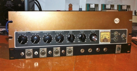 RCA tube mixer with input pads and direct outs