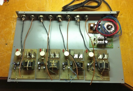 laying out 4 channel mic preamp/opto limiter