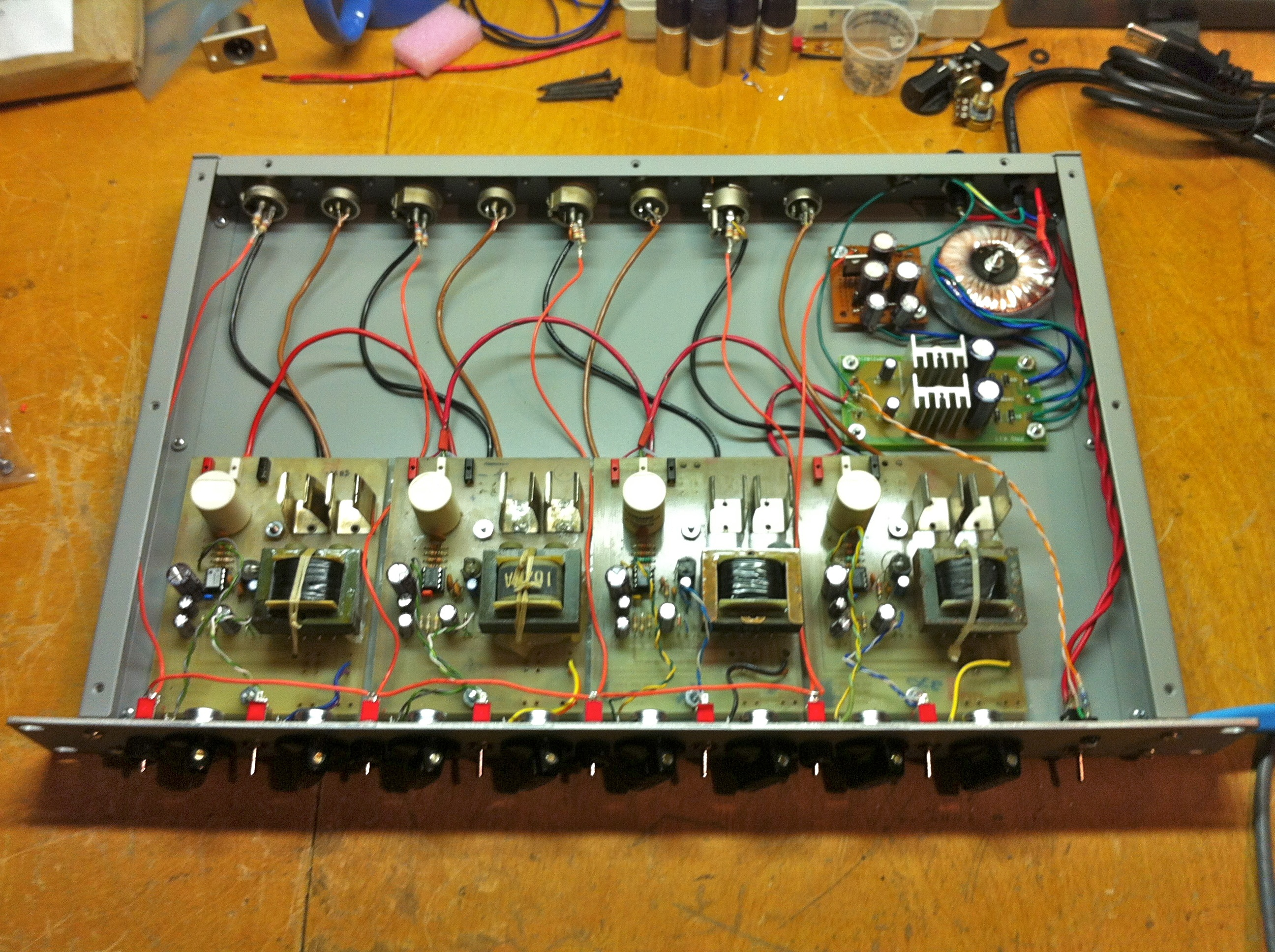 preamp analog audio repair wiring 4 channel mic preamp opto limiter