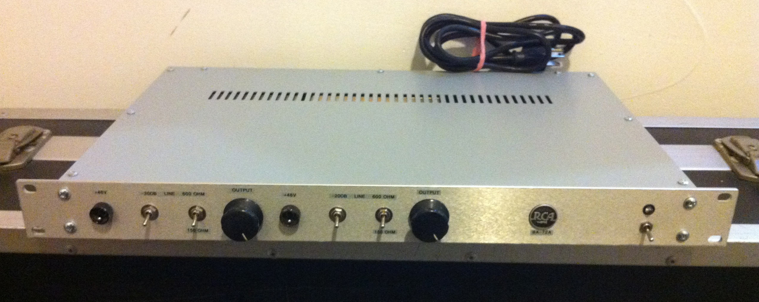 Discrete Transistor Analog Audio Repair Line Highend Preamplifier With Ics Rca Ba 71 Vintage Front