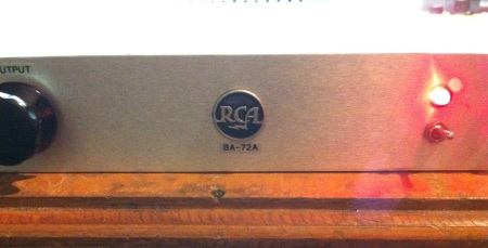 RCA meatball logo on BA-72A preamp