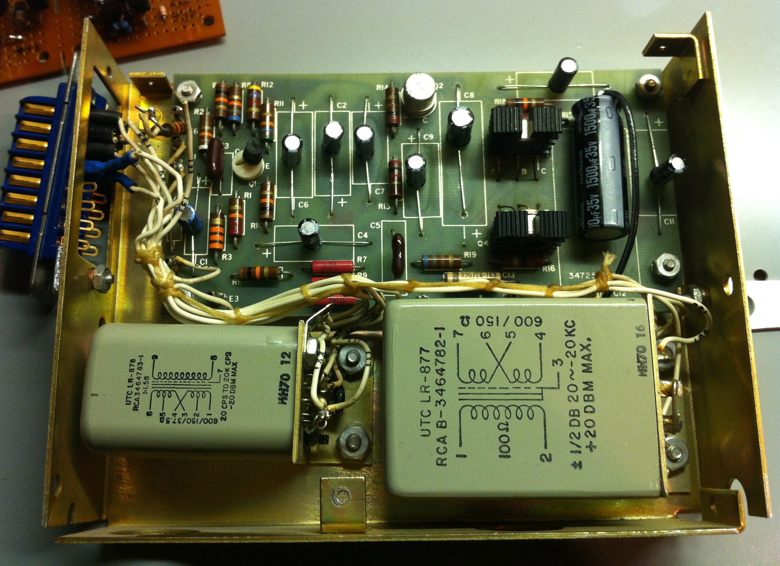 Discrete Transistor Analog Audio Repair Line Highend Preamplifier With Ics Recapped Rca Ba 71 72 31